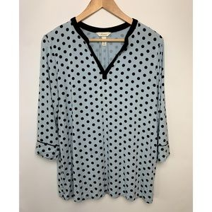 Soma Polk A Dot Soft V Neck 3/4 Sleeves sleep wear